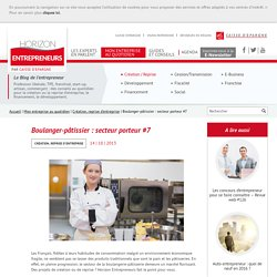 Boulanger-pâtissier : secteur porteur #7