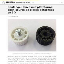 Boulanger lance une plateforme open source de pièces détachées en 3D