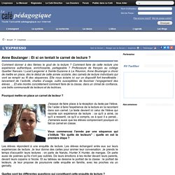 Anne Boulanger : Et si on tentait le carnet de lecture ?