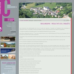 Boulangerie : résultats de l'enquête - Parc naturel Régional de Chartreuse, Savoie / Isère, Rhône-Alpes, France