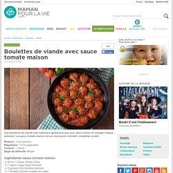 Boulettes de viande avec sauce tomate maison - Alimentation - Recettes