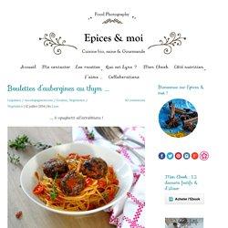 Boulettes d'aubergines au thym …