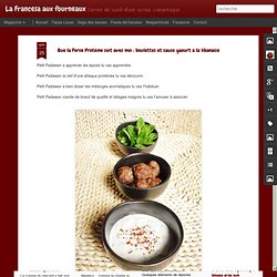 Que la Force Protéine soit avec moi : boulettes et sauce yaourt à la libanaise