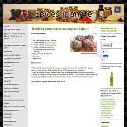 Boulettes orientales au zaatar ( Liban ) - Epices-planete: épices et épicerie fine en ligne