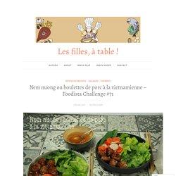 Nem nuong ou boulettes de porc à la vietnamienne