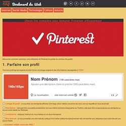 Check-list complète pour dompter Pinterest efficacement