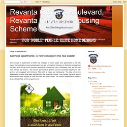 Revanta Officer's Boulevard, Revanta Officers's Housing Scheme: Services apartments: A new concept in the real estate!