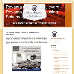 Revanta Officer's Boulevard, Revanta Officers's Housing Scheme: Get the best housing solution for your small size apartments!