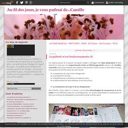 La puberté et ses bouleversements (1) - Au fil des jours, je vous parlerai de...Camille
