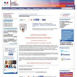Invitation presse - La Presse et le numérique : enjeux et bouleversements