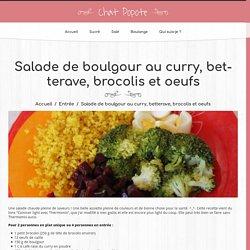 Salade de boulgour au curry, betterave, brocolis et oeufs