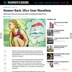 Bounce Back After Your Marathon