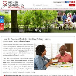How to Bounce Back to Healthy Eating Habits