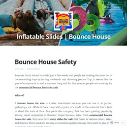 Bounce House Safety Information