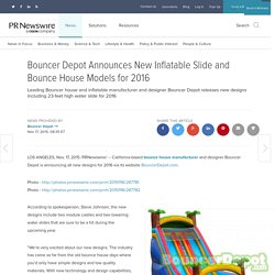 Bouncer Depot Announces New Inflatable Slides and Bounce House Models