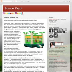 Bouncer Depot: Why Your Kids Love Commercial Bounce House for Sale