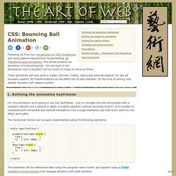 Bouncing Ball Animation < CSS