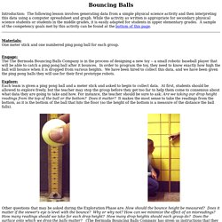 Bouncing Balls: A Lesson Plan that Integrates Technology and Physics