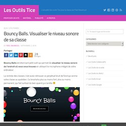 Bouncy Balls. Visualiser le niveau sonore de sa classe – Les Outils Tice
