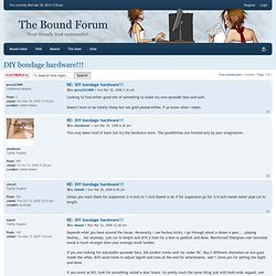 The Bound Forum • View topic - DIY bondage hardware!!!