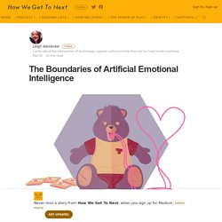 The Boundaries of Artificial Emotional Intelligence