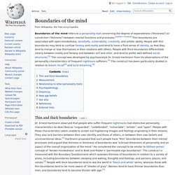 Boundaries of the mind - Wikipedia