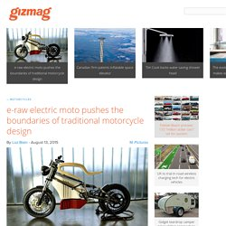 e-raw electric moto pushes the boundaries of traditional motorcycle design