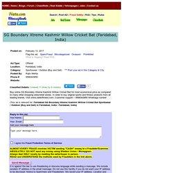 SG Boundary Xtreme Kashmir Willow CricketBat Faridabad Sportswear