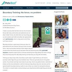Boundary Training: No fence, no problem