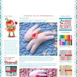 Bounding Bunnypins - a Freebie for Friday! - allsorts