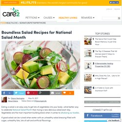 Boundless Salad Recipes For National Salad Month