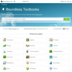 Boundless: Free, Open Source Textbooks