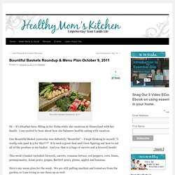 Bountiful Baskets Roundup & Menu Plan October 9, 2011