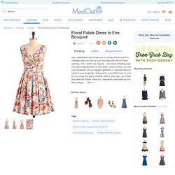 Floral Palate Dress in Fire Bouquet
