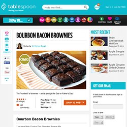 Bourbon Bacon Brownies