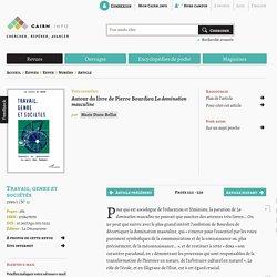 Autour du livre de Pierre Bourdieu La domination masculine