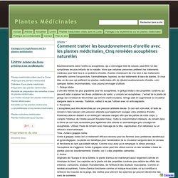 Comment traiter les bourdonnements d'oreille avec les plantes médicinales_Cinq remèdes acouphènes naturelles - Plantes Médicinales
