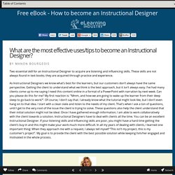 Manon Bourgeois on how to become an Instructional Designer