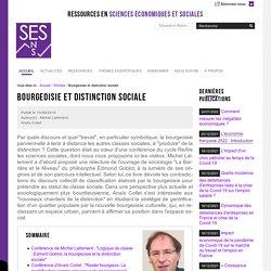 Bourgeoisie et distinction sociale