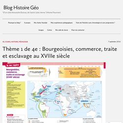 Thème 1 de 4e : Bourgeoisies, commerce, traite et esclavage au XVIIIe siècle
