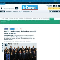 COP21. AuBourget, Hollande a accueilli toute la planète