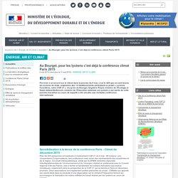 Au Bourget, pour les lycéens c'est déjà la conférence climat Paris 2015