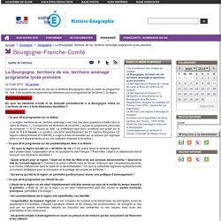 La Bourgogne, territoire de vie, territoire aménagé programme lycée première