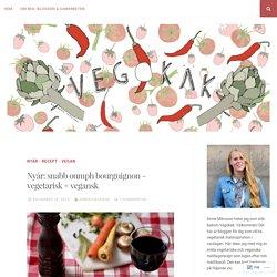 Nyår: snabb oumph bourguignon – vegetarisk + vegansk – Vegokäk