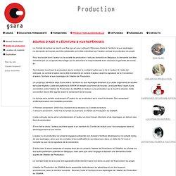 BOURSE D'AIDE A L'ÉCRITURE & AUX REPÉRAGES