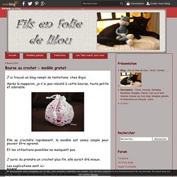 Bourse au crochet - modèle gratuit - Fils en folie de Lilou