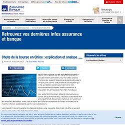 Chute de la bourse en Chine : explication et analyse - AXA