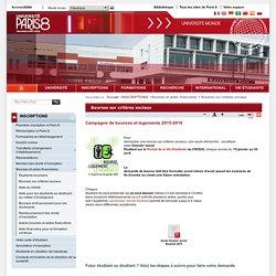 Bourses sur critères sociaux - Université Paris 8