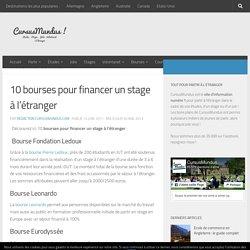 10 bourses pour financer un stage à l'étranger