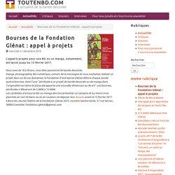 Bourses de la Fondation Glénat : appel à projets - TOUTENBD.COM